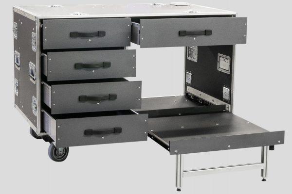 Büro-Rollcontainer - großes Fach für A3 Drucker