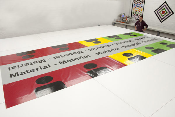 Planen Patientenablage IdF NRW Münster - verschweißte, farbige PVC Folie, 680 g/qm, dauerhaft lackiert + Siebdruck