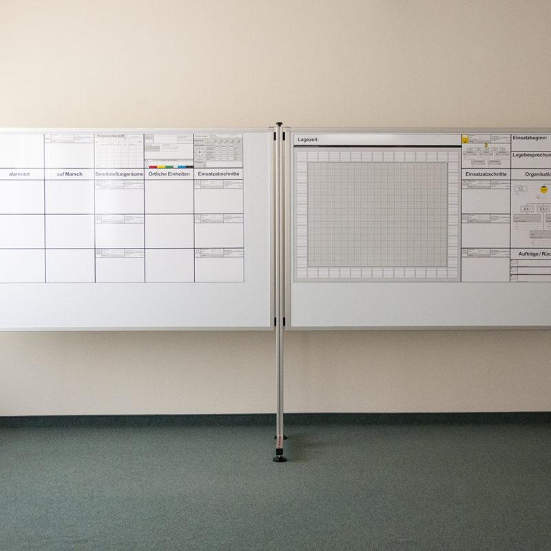 Taktische Arbeitswand © IdF NRW, Münster - LKR Ostholstein