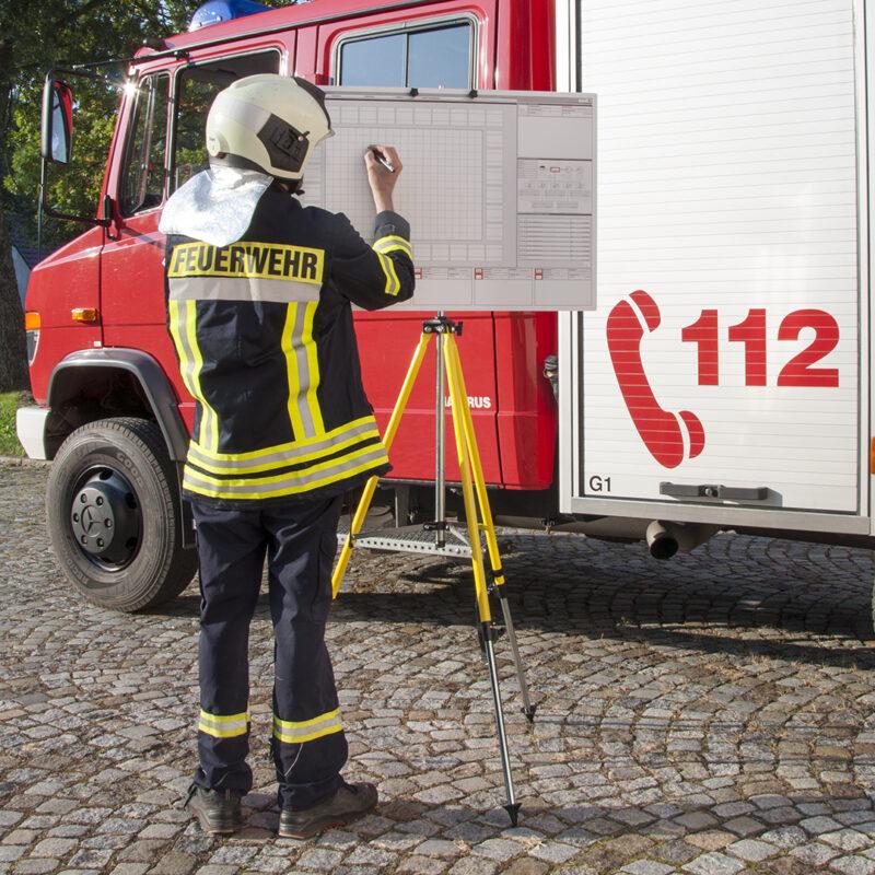 Taktische Arbeitstafel © IdF NRW Münster - Feuerwehrstativ