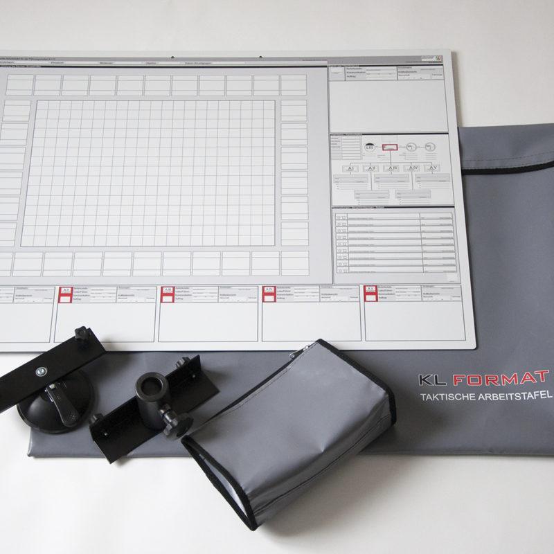 Taktische Arbeitstafel © IdF NRW Münster - Saughalter, Stativadapter, Taschen