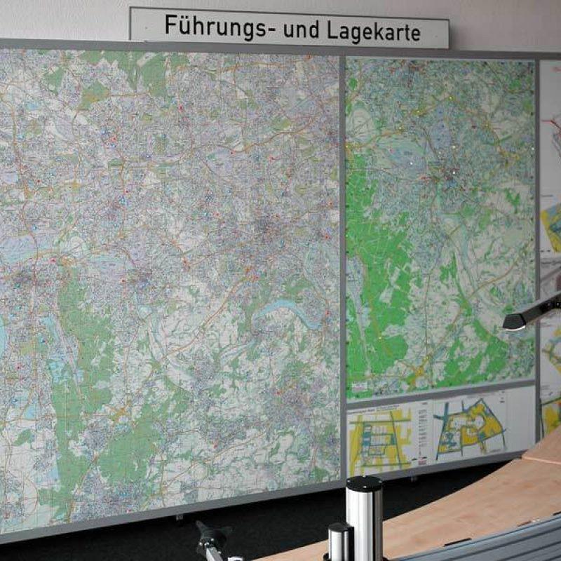 Kartenwand Mülheim an der Ruhr
