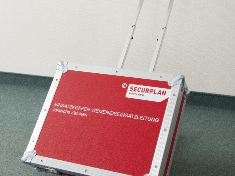 Einsatzkoffer Gemeindeeinsatzleitung mit Trolley - Securplan Italien