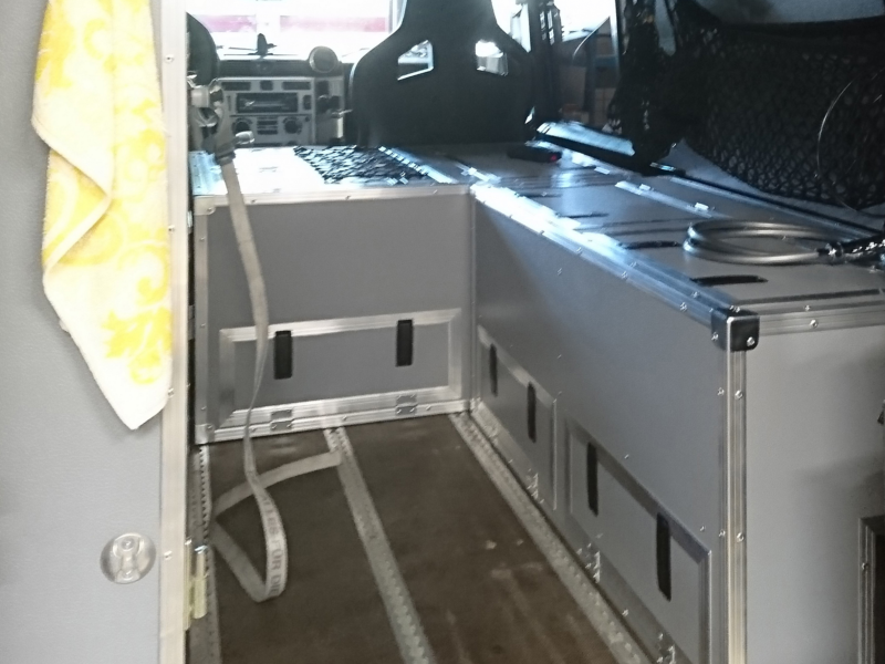 Fahrzeug Innenausbau mit Flightcases