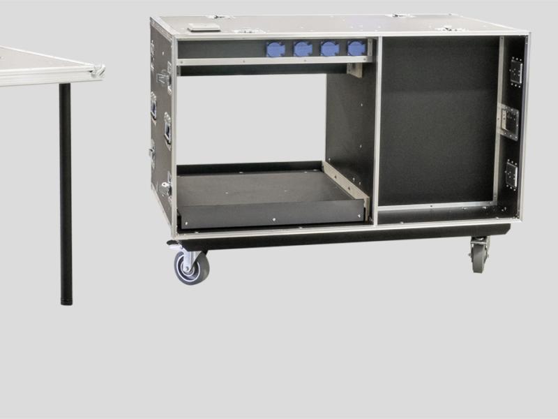 Büro-Rollcontainer, Vorder- und Rückseite als Tisch verwendbar