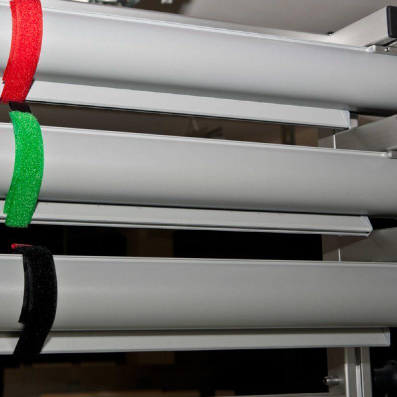 Fahrbare Klapptafel Detail Rollfolienanlage