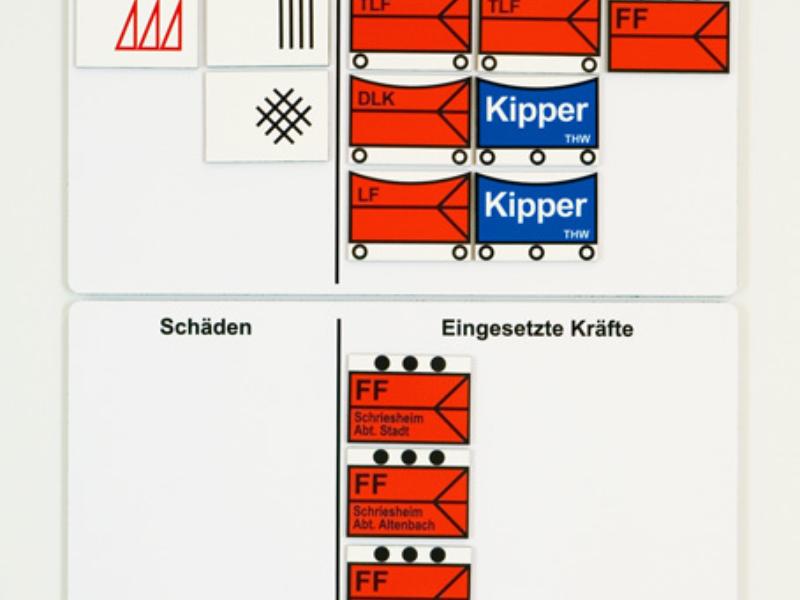 Schadenskonto und Anschlussplatte im Querformat