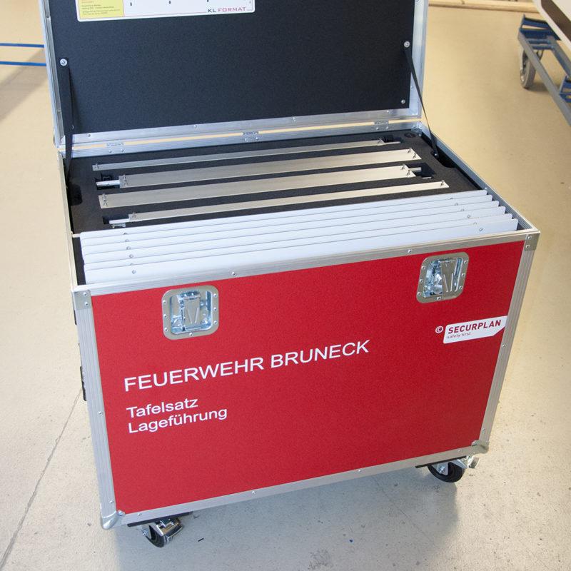 Tafelsatz Lageführung Feuerwehr Bruneck, Südtirol - Securplan Italien