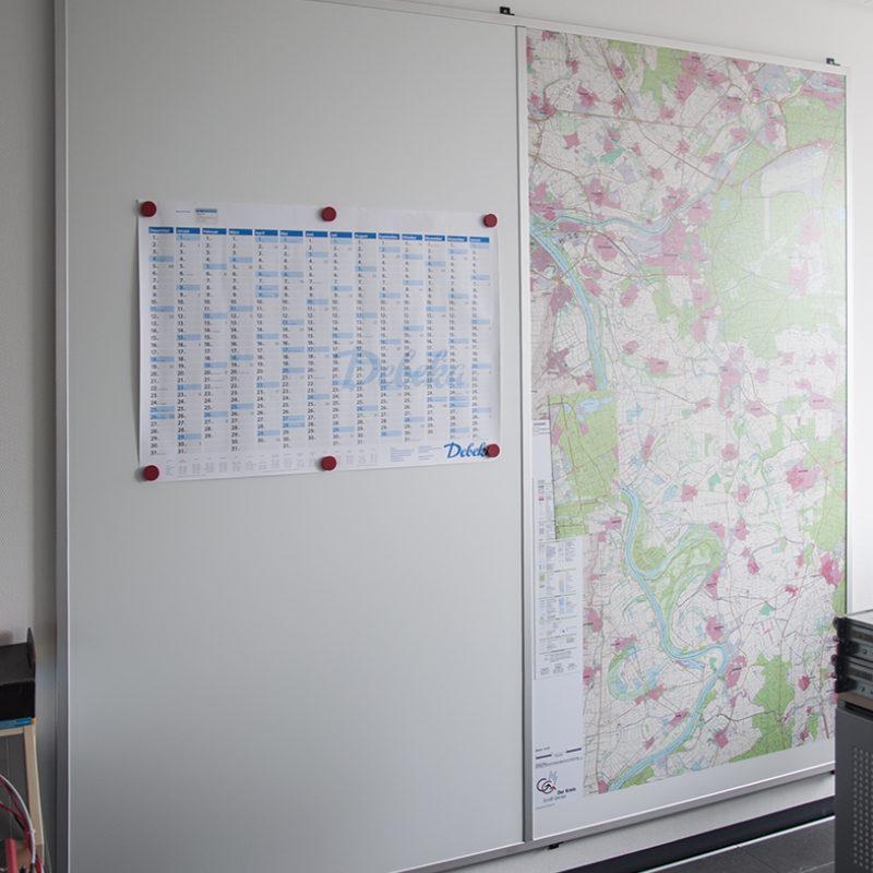 Kreisverwaltung Groß Gerau - Wandtafel mit Kartendruck